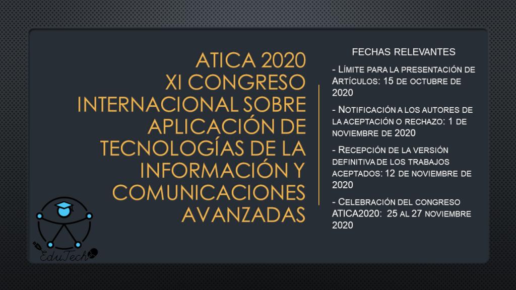 Relevant dates 2020 Atica Congress