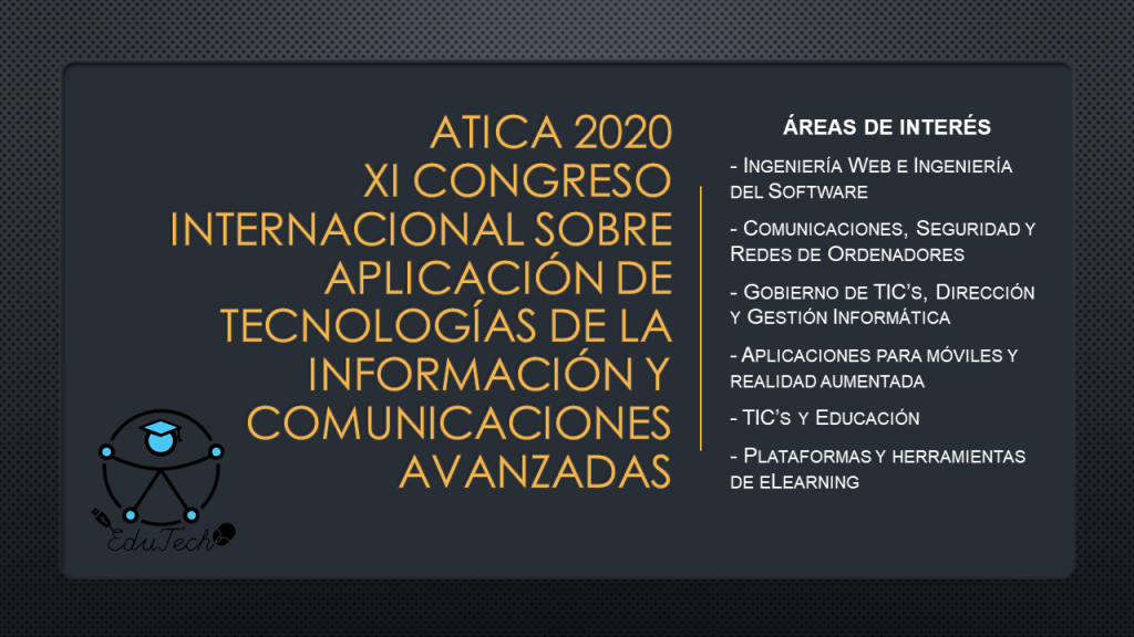 Areas of interest of ATICA 2020 congress